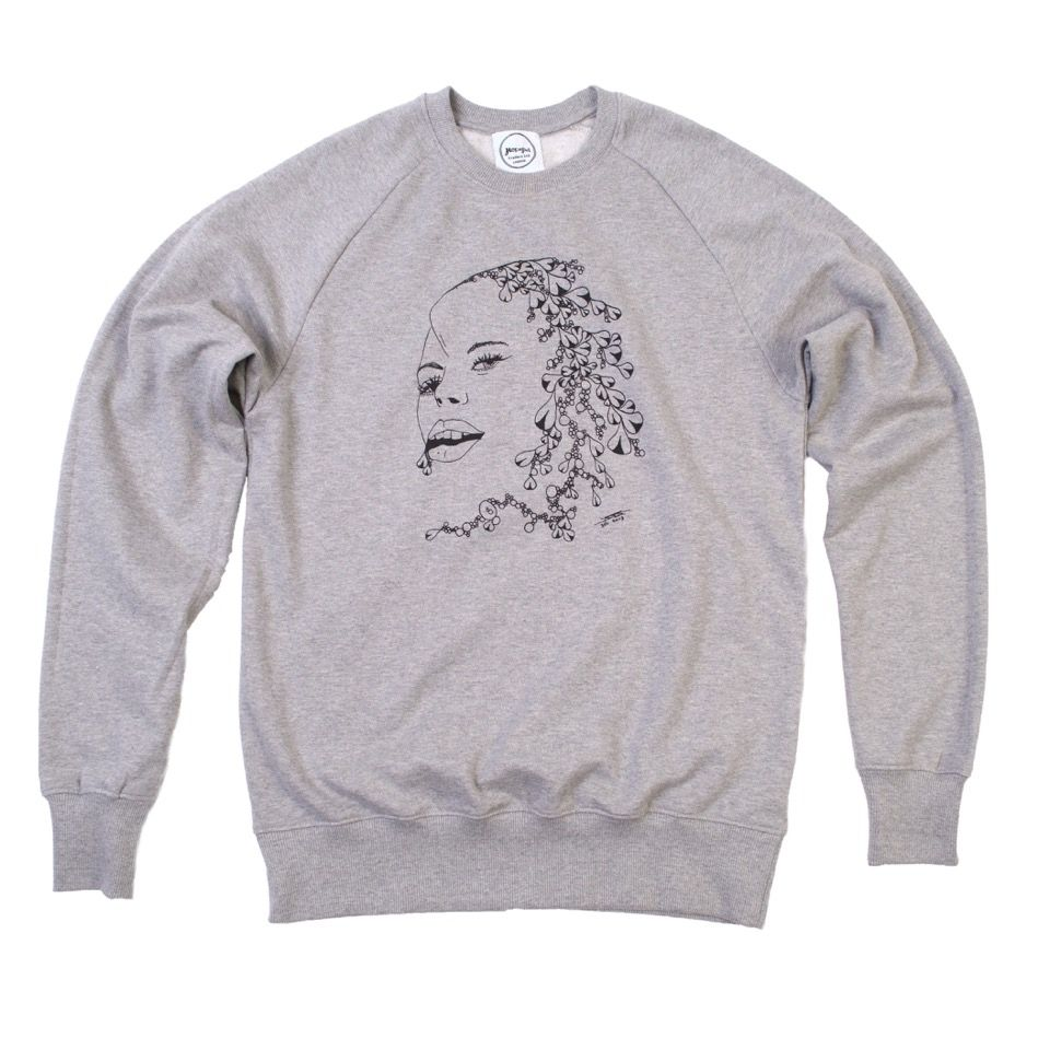 David Tovey 1st Girl Organic Sweatshirt  £50 - 15% of the sale goes to ex-homeless artist and activist David Tovey's chose charity Clothing The Homeless