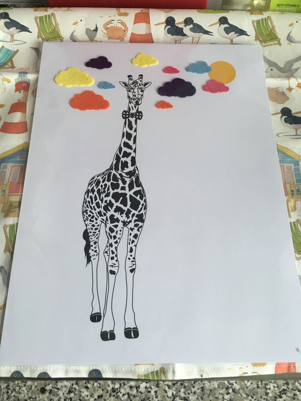 Mrs Penguin loved her giraffe print from Hello Geronimo