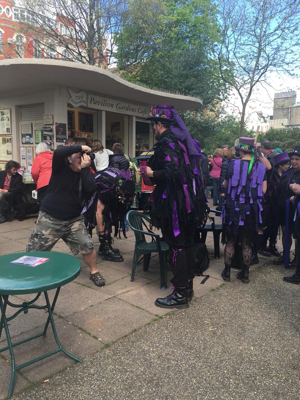 Morris Dancing in Pavilion Gardens