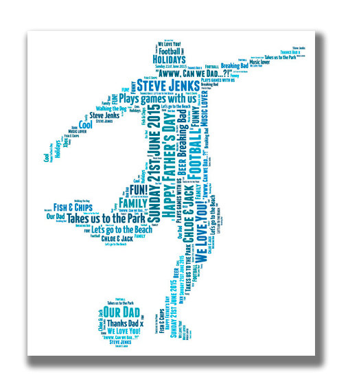 Personalised Word Art Football Player Print - via  Etsy