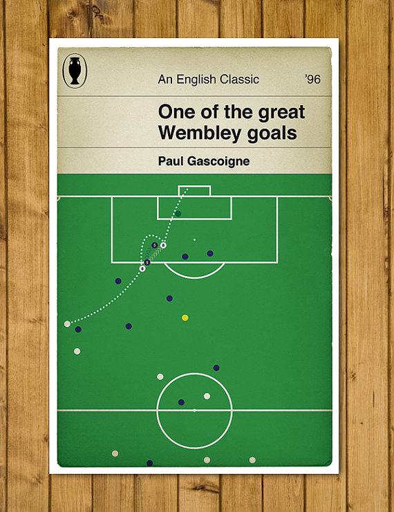 England V Scotland Euro 96 Penguin Classic Book Cover Poster via  Etsy