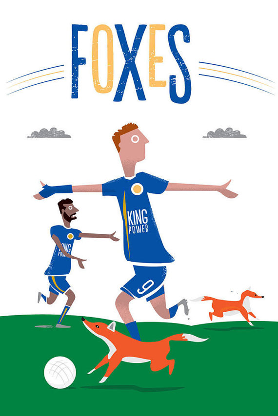 Leicester City Card via  Etsy