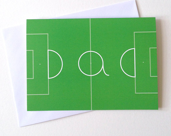Dad Football Card via  Etsy