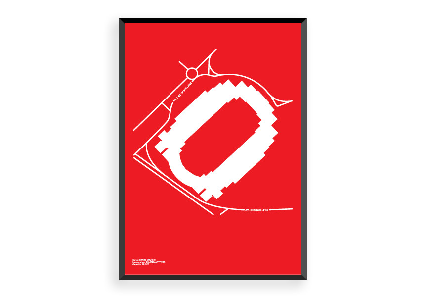 Stade Louis II print via  Form and Glory