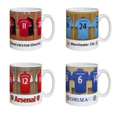 Personalised Football Dressing Room Mug via  The Gift Experience