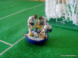 "Paul Gascoinge ""Dentist Chair"" Celebration via  Subbuteo Art"