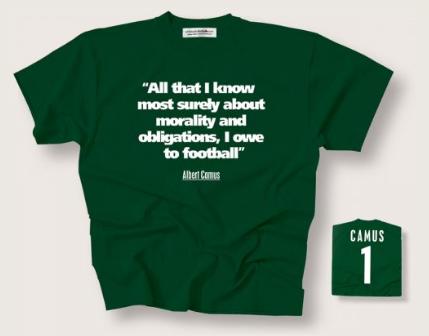 Albert Camus T-Shirt via  Philosophy Football