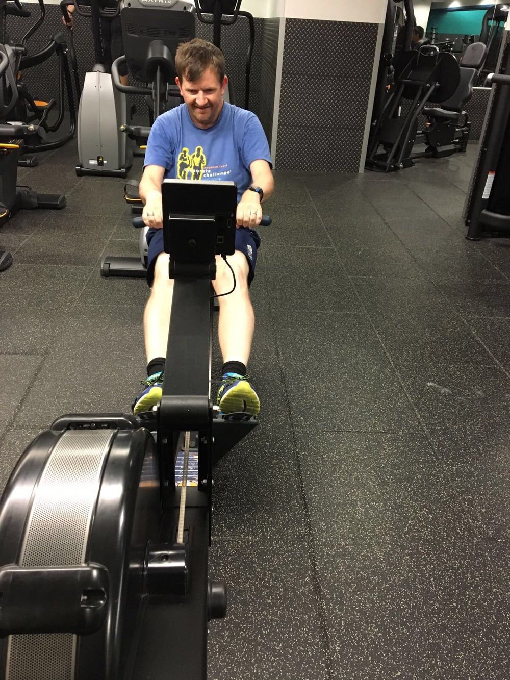 Me at the gym training for the 100km walk