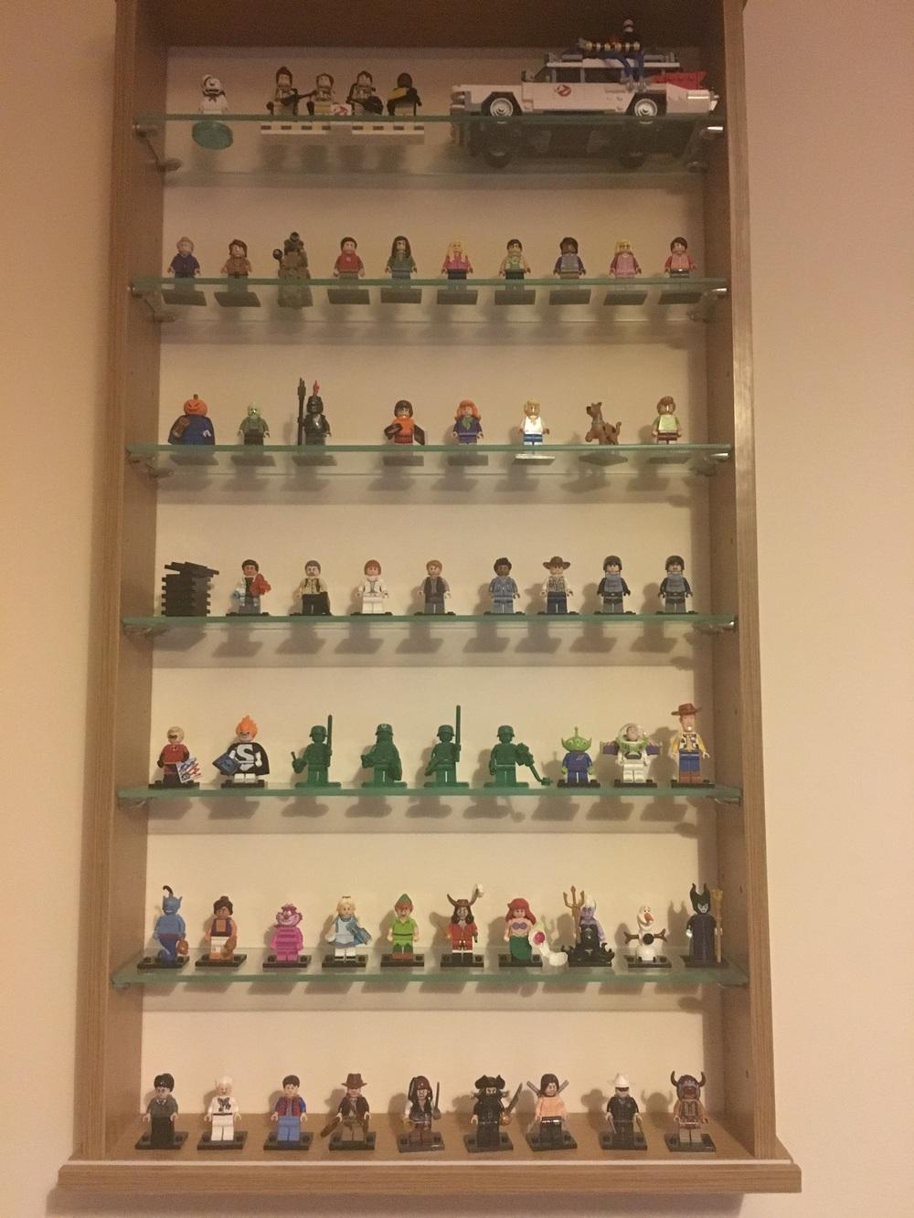 My July Lego minifigure display