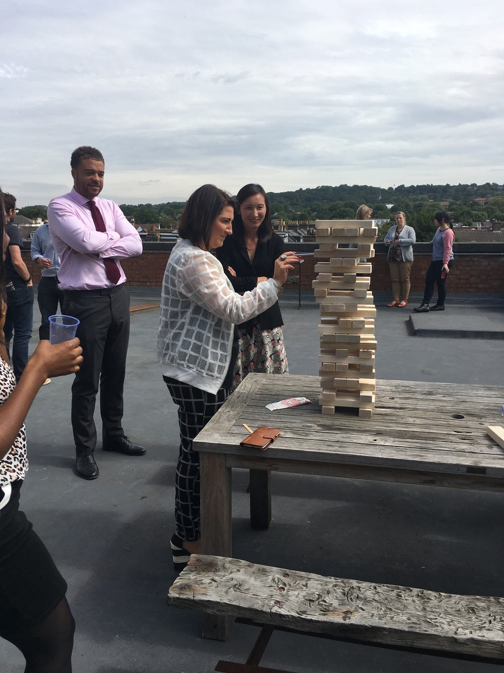 My work's summer party and the giant Jenga