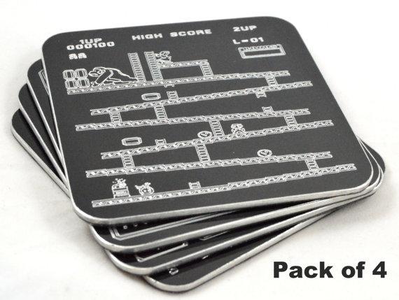 Vector Engrave - Retro Gaming Coasters