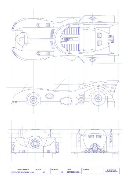 The Retro Draughtsman - Batman 1989 Batmobile
