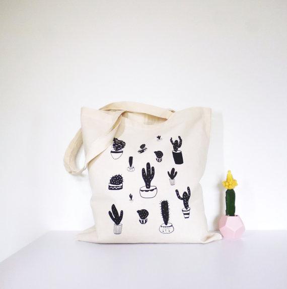 Katy Pillinger Designs - Cactus Tote Bag