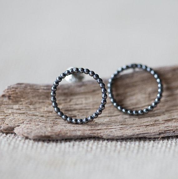 Eanjewellery - Black Circle Earrings