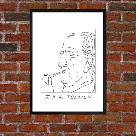 Badly Drawn Authors - JRR Tolkien