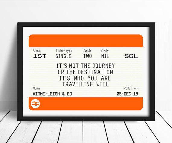 Of Life and Lemons - Personalised Railway Ticket Print