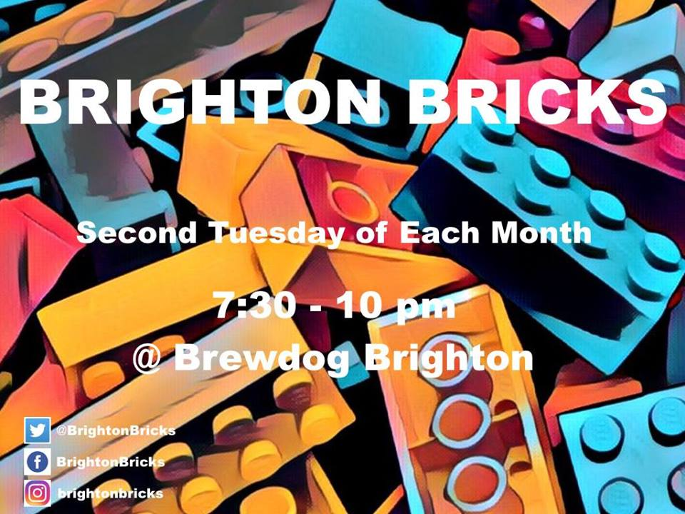 The monthly meet up of Brighton Bricks, the adult fan of Lego group for people in the Brighton area  So come along and chat about Lego, or bring some Lego along and get building.  We meet 2nd Tuesday of the Month  Check out the group on  Facebook