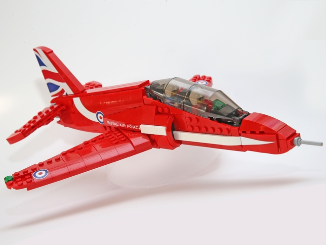 A Lego Minifigure scale version of a Red Arrow.  Read More