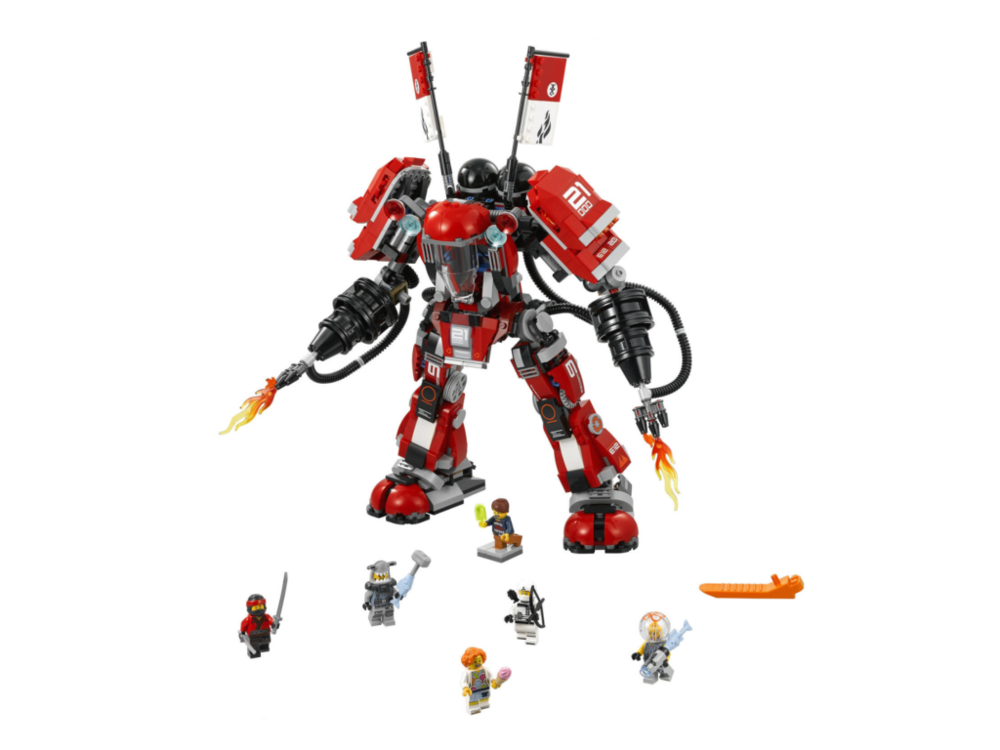 Reminds me of the giant mech from the Lego Movie, but this one looks better