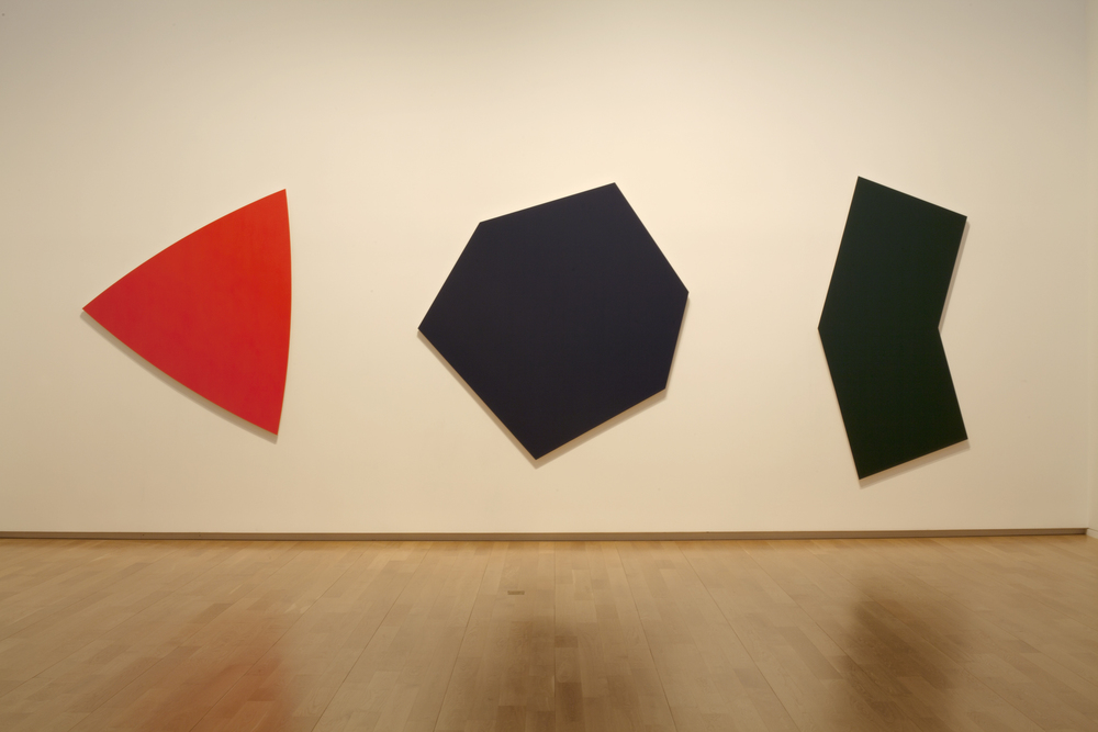 Dark Blue Panel, Dark Green Panel, Red Panel, 1986.