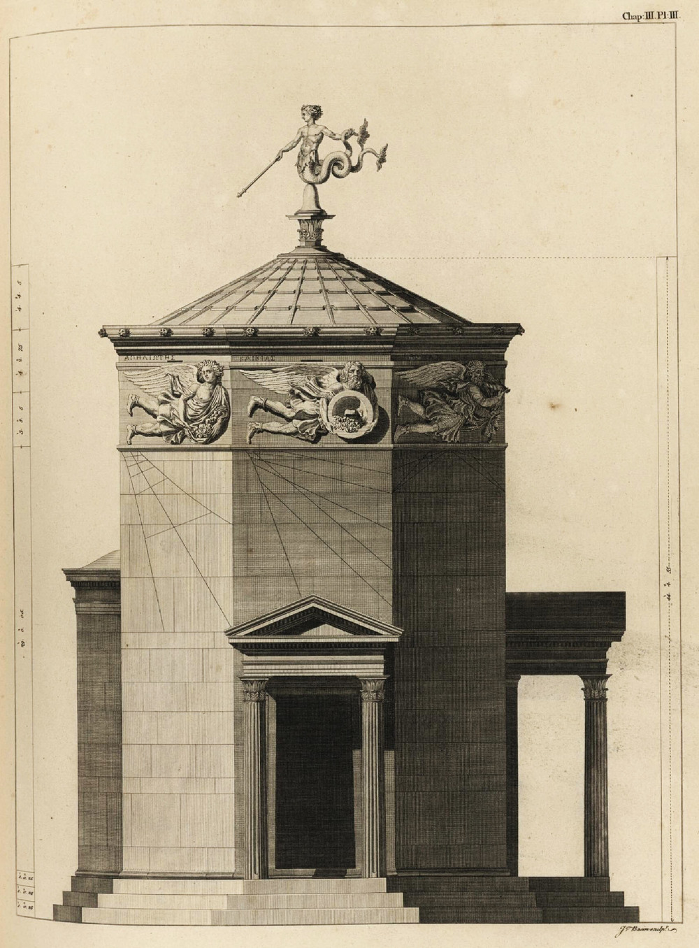 Elevation of the Tower of the Winds.