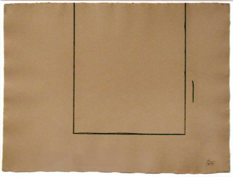 Robert Motherwell, Beige Open, 1981