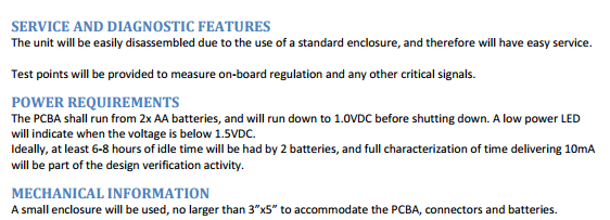 PCB Requirements