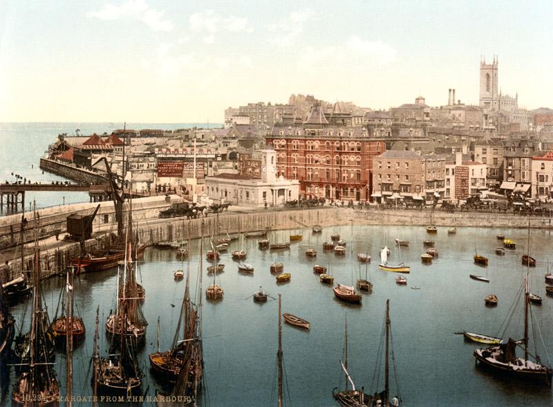 Margate Harbour, 1897, Kent.