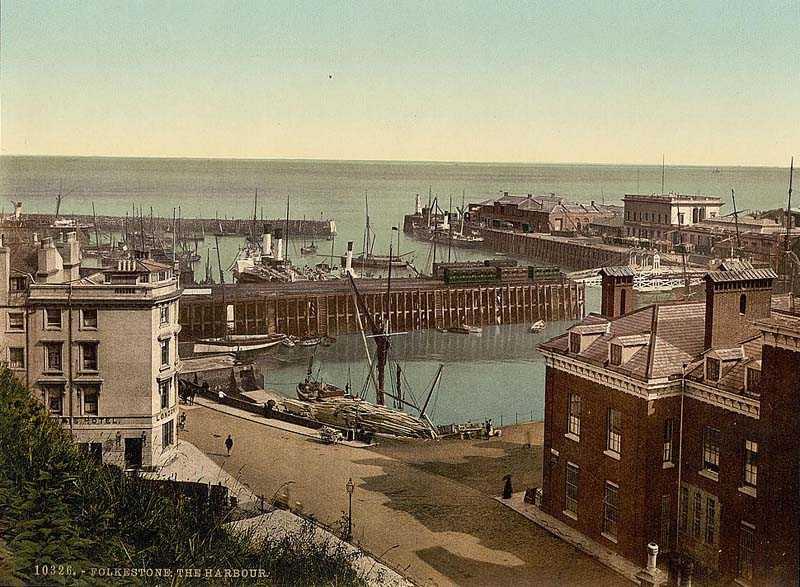Folkestone harbour, Kent.