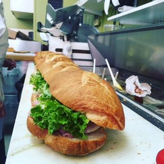 3 foot sub - choose the sub: Italian Combo, American Combo, Prosciutto Arugula and Fresh Mozzarella, etc.