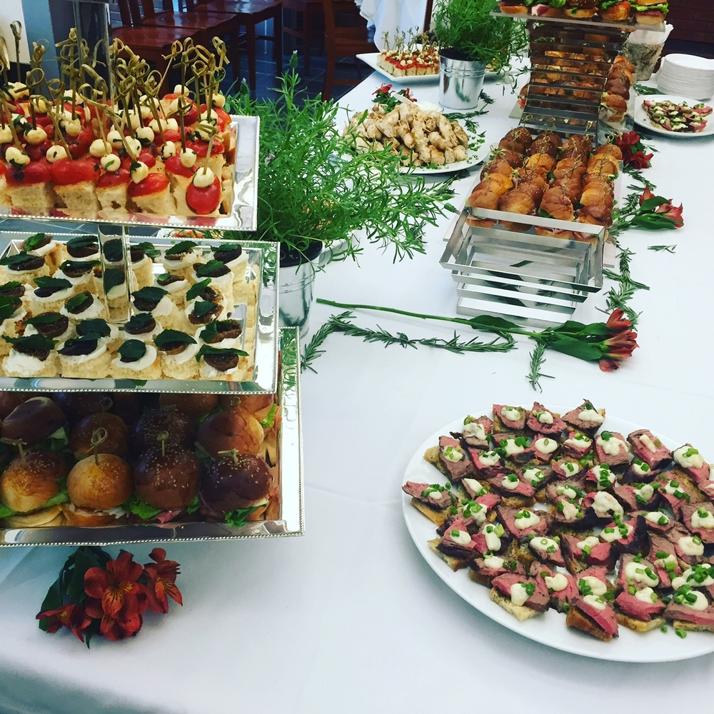 Hors D'oeuvres Spread at a Gala function catered by Winfield Street Italian Deli