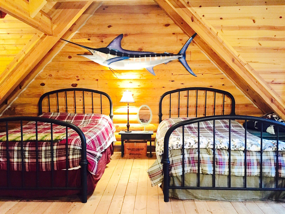 Pentwater Michigan Vacation Rental Cabin Loft Beds 2.jpg