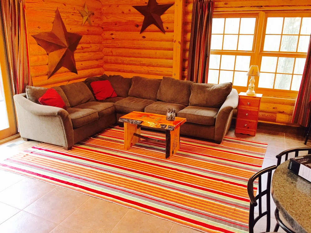 Pentwater MI Vacation Rental Cabin Living Room.jpg