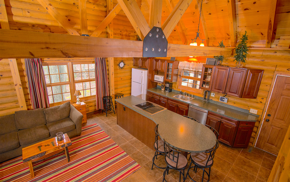Pentwater Michigan Cabin Kitchen from Stairs.jpg