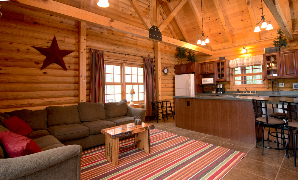 Pentwater Michigan Cabin LIving and Kitchen.jpg