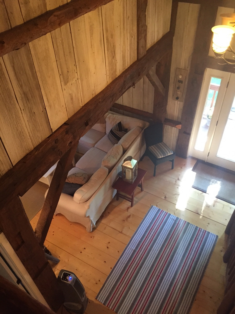 Silver Lake Michigan Looking Down into Living Room.JPG