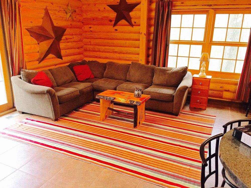 Pentwater MI Vacation Rental Cabin Living Room.jpg