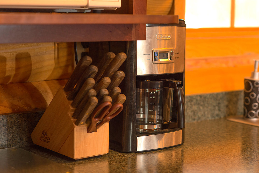 Pentwater Michigan Vacation Rental Cabin Cofee Maker .jpg