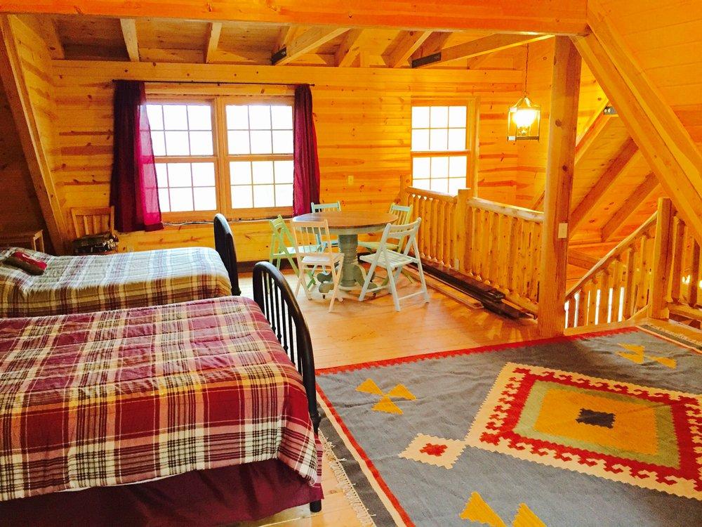 Pentwater Michigan Vacation Rental Cabin loft w rug.jpg