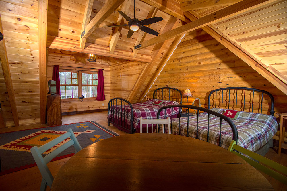 Pentwater Michigan Vacation Rental Loft from Table.jpg