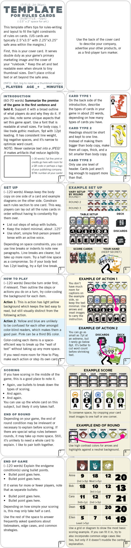 A template for writing and laying out rules cards for DriveThruCards products, via Daniel Solis (@DanielSolis)
