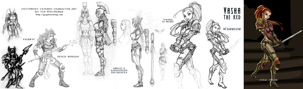 Cutthroat Caverns character design. Courtesy of Smirk & Dagger Games.
