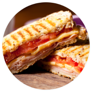 Ham and cheese with tomato Panini