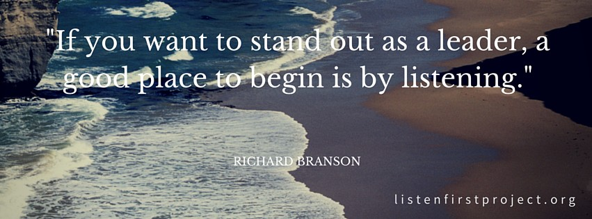 Listen First Project - Facebook Cover Photo - Richard Branson Quote