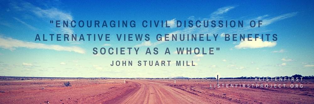 Listen First Project - Twitter Cover Photo - John Stuart Mill Quote