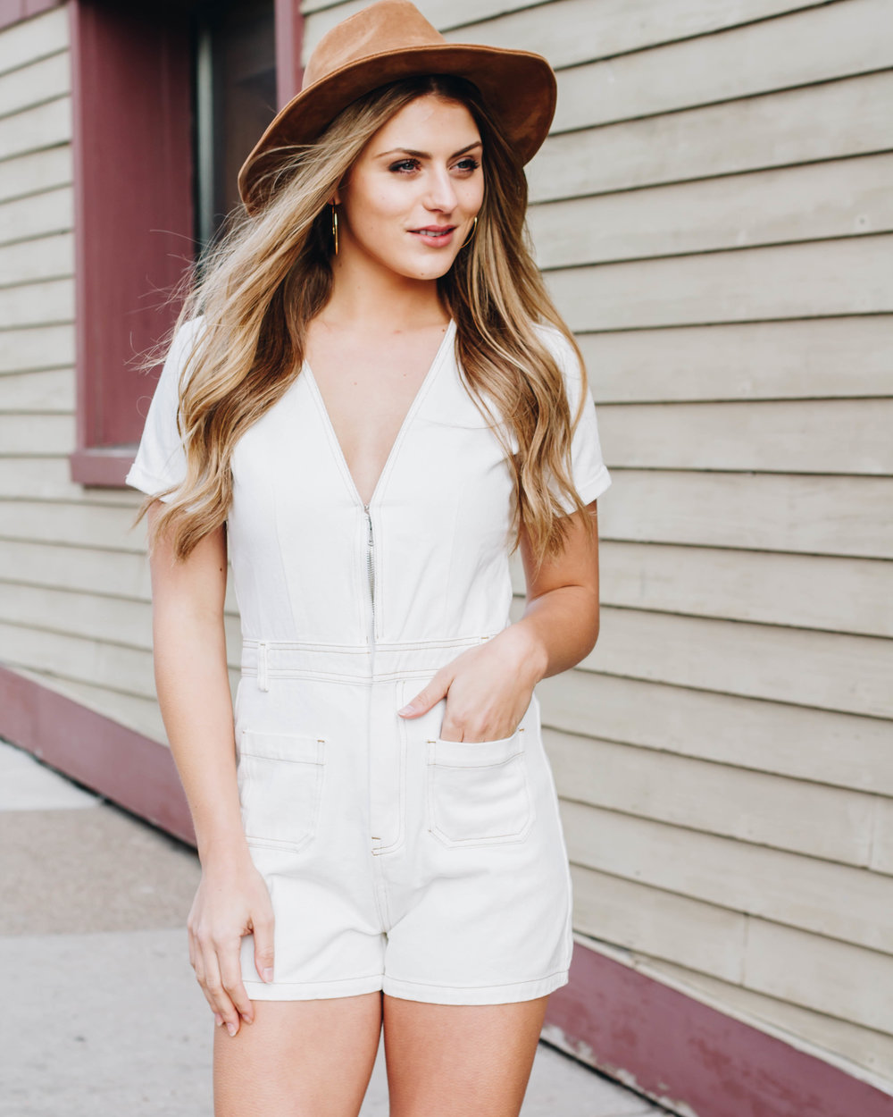 romper $52 , Hat (in store only)