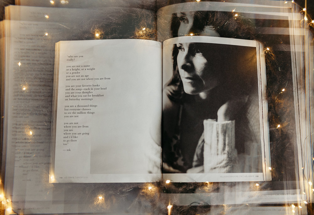 Published in Bella Grace Magazine, Issue 18 - A self portrait of mine published inside! Read more about it HERE