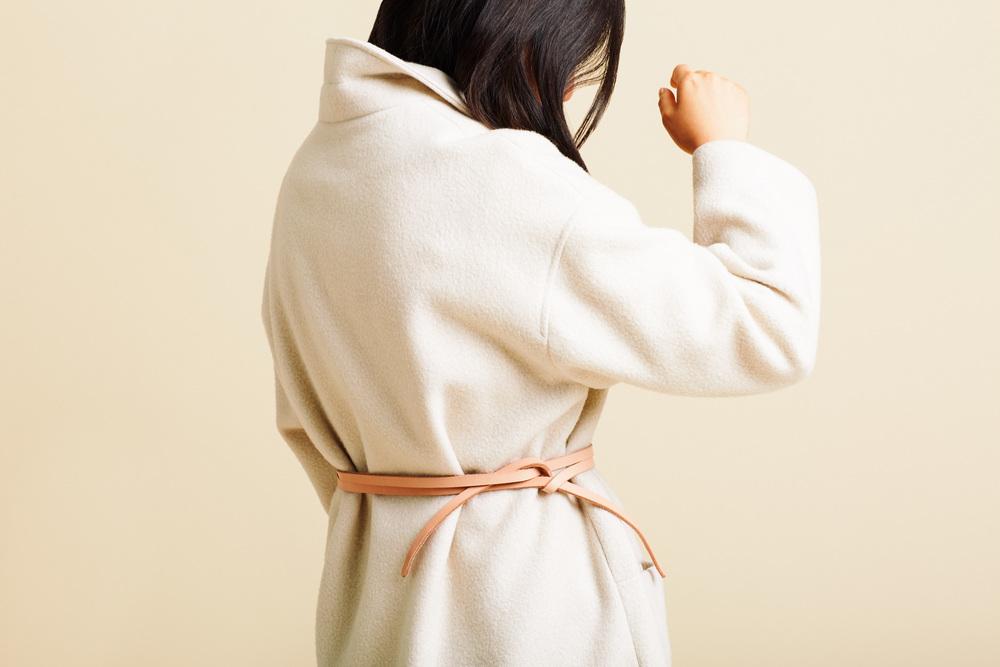 Crème Wrap Belt