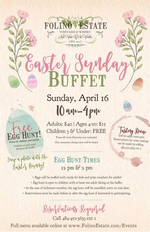 Easter Sunday Buffet Folino Estate