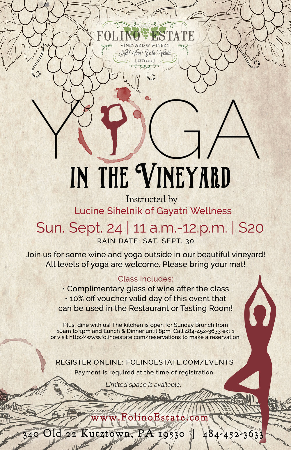 Wine Yoga In The Vineyard